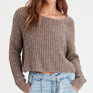 American Eagle cropped oatmeal sweater